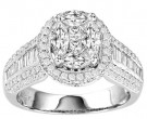 Diamond Engagement Ring 14K White Gold 1.80 cts. GS-21184