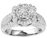 Diamond Engagement Ring 14K White Gold 1.90 cts. GS-21185