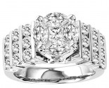 Diamond Engagement Ring 14K White Gold 3.00 cts. GS-21191