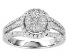Diamond Engagement Ring 14K White Gold 1.00 ct. GS-21211