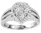 Diamond Engagement Ring 14K White Gold 1.50 cts. GS-21217