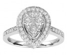 Diamond Engagement Ring 14K White Gold 1.00 ct. GS-21218
