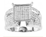 Diamond Engagement Ring 10K White Gold 0.75 cts. GS-21726