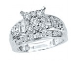 Diamond Engagement Ring 10K White Gold 1.66 cts. GS-21845