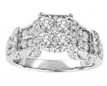 Diamond Engagement Ring 10K White Gold 1.50 cts. GS-21847
