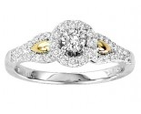 Diamond Engagement Ring 14K Two-Tone Gold 0.50 cts GS-21948