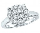 Ladies Diamond Fashion Ring 10K White Gold GS-22308