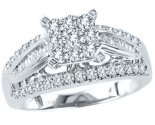 Diamond Engagement Ring 10K White Gold 1.00 ct. GS-22357