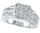 Diamond Engagement Ring 10K White Gold 1.00 ct. GS-22359