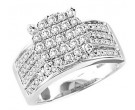 Diamond Engagement Ring 10K White Gold 1.00 ct. GS-22446
