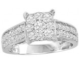Diamond Engagement Ring 10K White Gold 1.05 cts. GS-23144