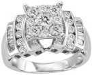 Diamond Engagement Ring 10K White Gold 1.40 cts. GS-23617