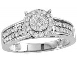 Diamond Engagement Ring 10K White Gold 0.50 cts. GS-23629