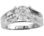 Diamond Engagement Ring 10K White Gold 0.70 cts. GS-23685
