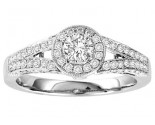 Ladies Engagement Ring 14K White Gold 0.75 cts. GS-50150