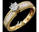 Diamond Engagement Ring 14K Yellow Gold 1.18 cts. 6R616C