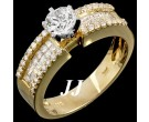 Diamond Engagement Ring 14K Yellow Gold 1.39 cts. 6R616D