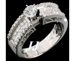 Diamond Engagement Ring 14K White Gold 1.54 cts. 6R620D