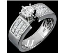 Diamond Engagement Ring 14K White Gold 2.35 cts. 6R819
