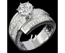 Diamond Engagement Ring 14K White Gold 2.70 cts. 6R822