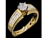 Diamond Engagement Ring 14K Yellow Gold 1.31 cts. 6R834C