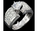 Diamond Engagement Ring 14K White Gold 3.10 cts. 6R855