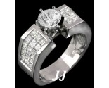 Diamond Engagement Ring 14K White Gold 2.80 cts. 7R883