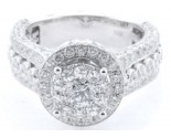 Diamond Engagement Ring 14K White Gold 3.51 cts. KCR051291