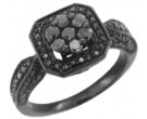 Diamond Engagement Ring 10K Gold Black Rhodium 1.09 cts. KCR3037