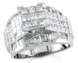 Ladies Diamond Ring 14K White Gold 3.30 cts. S14-1