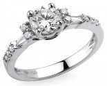 Diamond Engagement Ring 18K White Gold 1.15 cts S2174A