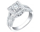 Ladies Diamond Ring 18K White Gold 1.30 cts. S49-7