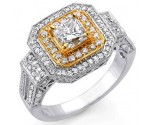 Diamond Engagement Ring 18K White Gold 1.80 cts S7520A