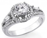 Diamond Engagement Ring 18K White Gold 1.20 cts SC7-18K