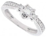Diamond Engagement Ring 14K White Gold 0.57 cts. SC-7001