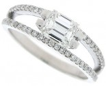 Diamond Engagement Ring 14K White Gold 1.16 cts. SC-7001