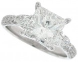 Diamond Engagement Ring 14K White Gold 2.91 cts. SC-7010