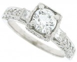 Diamond Engagement Ring 18K White Gold 1.53 cts. SC-7102