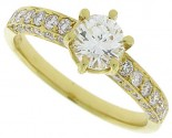 Diamond Engagement Ring 18K Yellow Gold 1.10 cts. SC-7103