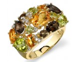 Multicolor Diamond Ring 14K Yellow Gold 0.07 cts. DZ-30058