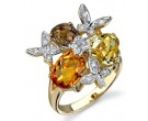 Multicolor Diamond Ring 14K Yellow Gold 0.08 cts. DZ-30061