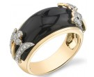 Agate Diamond Ring 14K Yellow Gold 0.20 cts. DZ-30455
