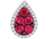 Diamond Ruby Fashion Pendant 14K White Gold 1.01 cts. GD-95431