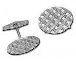 Gold Cuff Links 14K Solid White Gold GCC1958