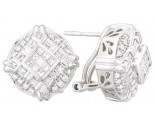 Diamond Earrings 14K White Gold 2.00 cts. A12-E0009