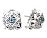 Diamond Earrings 14K White Gold 2.1 cts. A12-E0010-WB