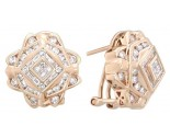Diamond Earrings 14K Yellow Gold 1.75 cts. A12-E0057
