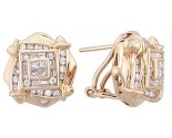Diamond Earrings 14K Yellow Gold 1.25 cts. A12-E0062