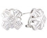 Diamond Earrings 14K White Gold 1.10 cts. A12-E0064
