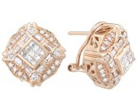 Diamond Earrings 14K Yellow Gold 1.40 cts. A12-E0067